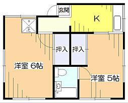 [一戸建] 東京都東村山市野口町4丁目 の賃貸【/】の間取り