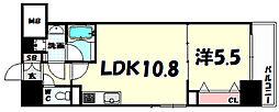 L・Isobe三宮[3階]の間取り