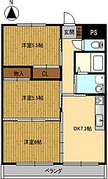 Grand Cha'teau III[202号室]の間取り