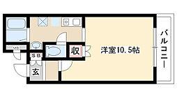 愛知県日進市竹の山4丁目の賃貸マンションの間取り