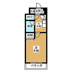サンシティー烏丸高辻[6階]の間取り