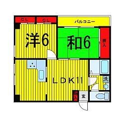 堤柳泉ビル[4階]の間取り