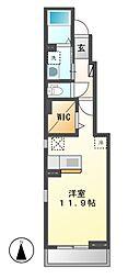 カーサノリタケ[1階]の間取り