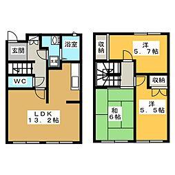 [テラスハウス] 青森県青森市沖館4丁目 の賃貸【/】の間取り