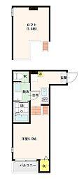 ハーモニーテラス花川Ⅱ[1階]の間取り