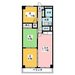 クレアージュ小田[2階]の間取り