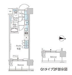 パークアクシス東高円寺[706号室]の間取り