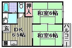 ドミールDI[302号室]の間取り