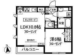 ブセナガーデン 3階1LDKの間取り