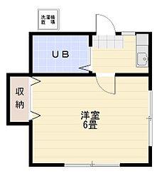 若葉富士見アパート[103号室]の間取り