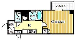 エムロード福島[3階]の間取り