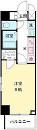 東京都八王子市東中野の賃貸マンションの間取り