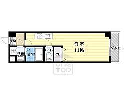 パーラム高殿 6階1Kの間取り