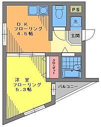 宮城ビル[3F号室]の間取り