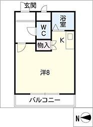 コーポアップル[1階]の間取り