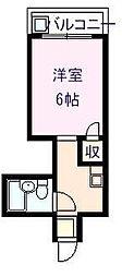 大阪府大阪市東成区大今里南4丁目の賃貸マンションの間取り