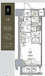 都営浅草線 大門駅 徒歩8分の賃貸マンション 5階1Kの間取り