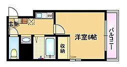 Osaka Metro谷町線 都島駅 徒歩3分の賃貸マンション 2階1Kの間取り