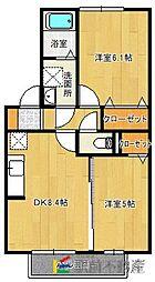グリーンコーポユリA棟[2階]の間取り