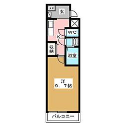 ルクラ京都三条油小路[5階]の間取り
