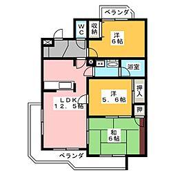 アルシュKUNO[1階]の間取り