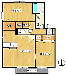 ベルヴェデーレ2番館[2階]の間取り