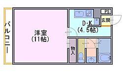 K&Cプラザ[702号室]の間取り