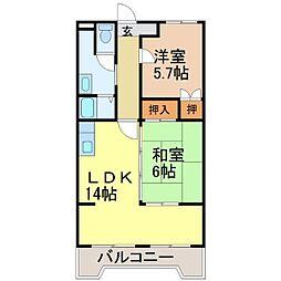 ロイヤルオークII[2階]の間取り