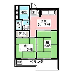メゾン松岡[2階]の間取り