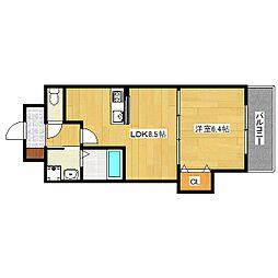 Luxe中書島[4階]の間取り