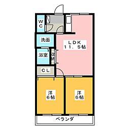 プロニティハウス[1階]の間取り