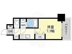 名古屋市営東山線 新栄町駅 徒歩8分の賃貸マンション 15階1Kの間取り
