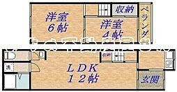 [テラスハウス] 大阪府大阪市城東区野江2丁目 の賃貸【/】の間取り