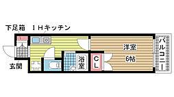 兵庫県神戸市兵庫区本町2丁目の賃貸マンションの間取り
