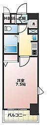 大阪府大阪市中央区瓦町1の賃貸マンションの間取り
