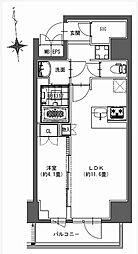 都営新宿線 馬喰横山駅 徒歩9分の賃貸マンション 9階1LDKの間取り