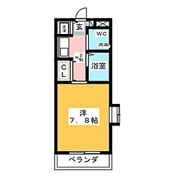 白山マンション[1階]の間取り
