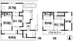 [一戸建] 兵庫県川西市南花屋敷3丁目 の賃貸【/】の間取り