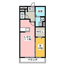 SeaSide西湘 1階1LDKの間取り