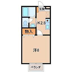 和歌山県和歌山市北出島の賃貸アパートの間取り