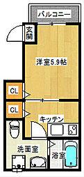 柏田アパート[101号室]の間取り