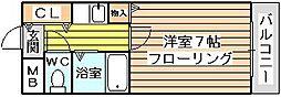 シャルム橋本3[4階]の間取り
