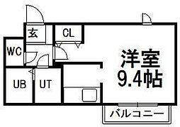 アビタ円山[2階]の間取り