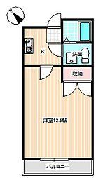 山口県下関市新地町の賃貸マンションの間取り