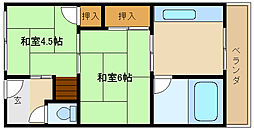 第2カシノハイツ[5階]の間取り