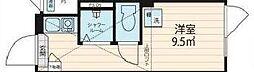 JR総武線 大久保駅 徒歩8分の賃貸マンション 1階ワンルームの間取り