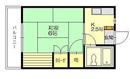 きよみハイツ[1階]の間取り
