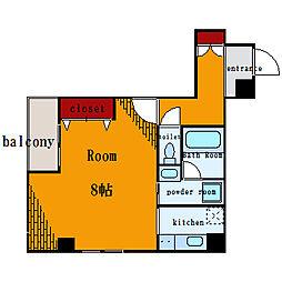 ライツェント石島[4階]の間取り