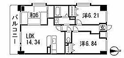 カンティーナ小笹[1階]の間取り