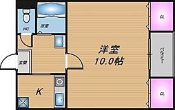 大阪府大阪市北区豊崎1の賃貸マンションの間取り